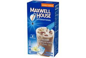 Maxwell House International French Vanilla Iced Latte Single Serve