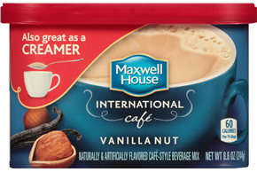 Maxwell House International Cafe Vanilla Nut Cafe-Style Beverage Mix 8.6 oz. Tub