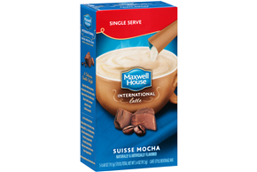 Maxwell House International Cafe 3.4 Oz Coffee Drink-Instant Flavored  Suisse Mocha Latte     5 Box/