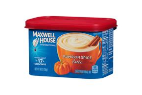 Maxwell House International Pumpkin Spice Latte 9 oz Canister