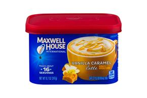 Maxwell House International Vanilla Caramel Latte 8.7 oz Canister