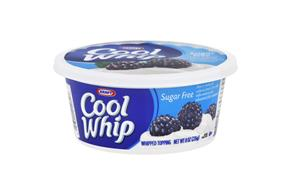 Cool Whip Sugar Free Whipped Topping-Frozen 8 Oz. Plastic Tub