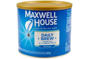 Maxwell House Daily Brew Ground Coffee 30.65 oz. Canister