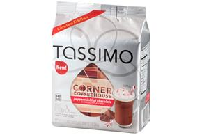 Tassimo Corner Coffeehouse Peppermint Hot Chocolate T Discs 8 ct Bag