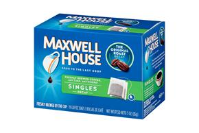 Maxwell House Decaffeinated  Instant Bags 19 Ct Coffee Singles 3 Oz Box