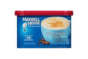 Maxwell House International Vanilla Bean Latte 8.5 oz Canister
