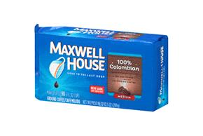 Maxwell House 100% Colombian Ground Coffee 10.5 oz. Brick