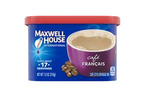 Maxwell House International Cafe Cafe Francais Cafe-Style Beverage Mix 7.6 oz. Tub