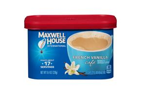 Maxwell House International Cafe French Vanilla Cafe-Style Beverage Mix 8.4 oz. Tub