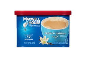 Maxwell House International Cafe French Vanilla Cafe-Style Beverage Mix 8.4 oz. Tub
