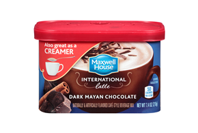 Maxwell House International Dark Mayan Chocolate Latte Cafe-Style Beverage Mix 7.4 oz. Tub