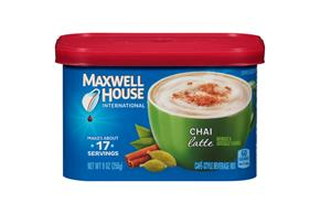 Maxwell House International Chai Latte 9 oz Canister