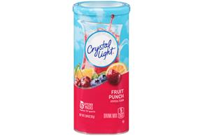 CRYSTAL LIGHT MULTISERVE Fruit Punch  Sugar Free 2.04 oz. Packet
