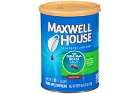 Maxwell House Decaf Original Medium Roast Ground Coffee 11 oz. Canister