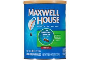 Maxwell House Decaf Original Medium Roast Ground Coffee 11 oz. Canister