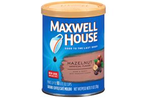 Maxwell House Hazelnut Ground Coffee 11 oz. Canister