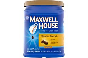 Maxwell House Master Blend Light Roast Ground Coffee 44.5 oz. Canister