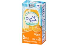 Crystal Light with Caffeine Citrus On the Go Drink Mix 10-0.09 oz. Packets