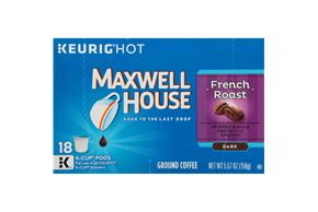 Maxwell House French Roast Coffee K-Cup(R) Packs 18 ct Box