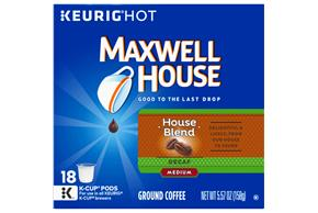 Maxwell House Decaf House Blend Coffee K-Cup(R) Packs 18 ct Box
