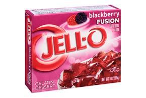 Jell-O Gelatin Blackberry Fusion  3 Oz Box