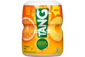 TANG POWDERED SOFT DRINK ORANGE PINEAPPLE 20 oz Cannister