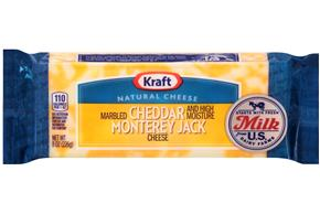 Kraft Natural Cheddar & Monterey Jack Marbled Cheese - 8Oz