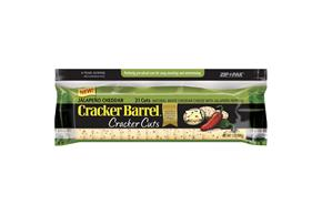 Kraft Cracker Barrel Jalapeno Cheddar Cracker Cuts 7 Oz Pack