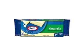 Kraft Part Skim Mozzarella Natural Cheese Block 8 Oz Vacuum Packed