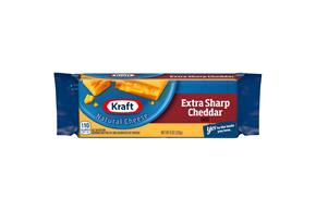 Kraft Natural Extra Sharp Cheddar Cheese - 8Oz