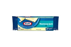 Kraft Monterey Jack Natural Cheese Block  8 Oz  Vacuum Packed