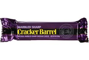 Cracker Barrel Marbled Sharp Cheddar Cheese 8 Oz. Chunk