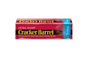 Cracker Barrel Extra Sharp Cheddar Cheese Made With 2% Milk 8 Oz. Chunk