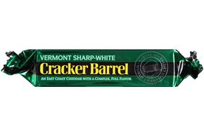Cracker Barrel Vermont Sharp-White Cheddar Cheese 8 Oz. Chunk