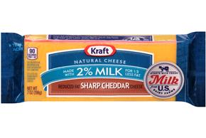 Kraft Natural 2% Milk Sharp Cheddar Cheese - 7Oz