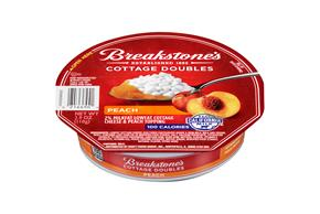 Breakstone's Cottage Doubles Peach Cottage Cheese 3.9 Oz. Tray