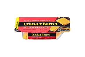 Cracker Barrel Extra Sharp Cheddar Cheese Cracker Cuts 24 Ct Tray