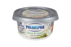 Philadelphia Chive And Onion Cream Cheese 7.5 Oz Tub