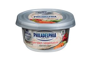 Philadelphia Garden Vegetable Cream Cheese 7.5 Oz Tub