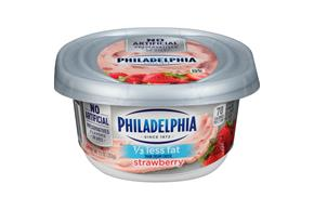 Philadelphia 1/3 Less Fat Strawberry Cream Cheese Spread 8 Oz. Tub