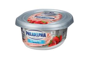 Philadelphia 1/3 Less Fat Strawberry Cream Cheese Spread 7.5 Oz. Tub