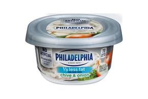 Philadelphia 1/3 Less Fat Chive & Onion Cream Cheese Spread 7.5 Oz. Tub