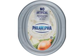 Philadelphia 1/3 Less Fat Chive & Onion Cream Cheese Spread 8 Oz. Tub