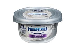 Philadelphia 2X Protein Plain Cream Cheese-Soft 7 Oz Tub