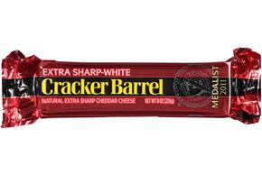 Cracker Barrel Extra Sharp-White Cheddar Cheese 8 Oz. Chunk