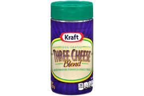 Kraft 100% Grated Three Cheese Blend 8 Oz. Shaker