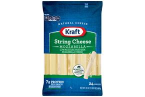 Kraft Mozzarella Natural String Cheese Sticks 24 Oz Bag (24 Sticks)