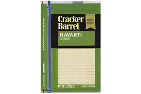 Kraft Cracker Barrel(R) Havarti Cheese Slices 10 Ct 7 Oz Zip Pak