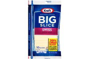 Kraft Big Slice Swiss Slices - 10Ct