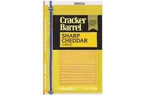 Kraft Cracker Barrel(R) Cheddar Sharp Cheese Slices 11 Ct 7 Oz Zip Pak